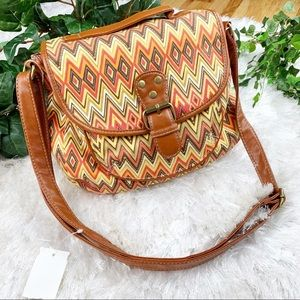 Orange Chevron NWT Cotton Chateau Crossbody Bag